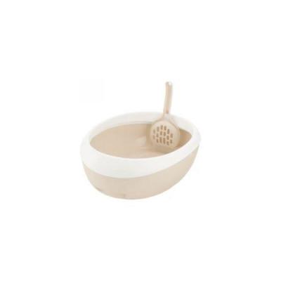 Richell Туалет для кошек Lapre Cat S полукруглый 30 × 39,1 × 12H (см) белый