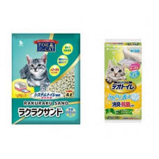 For Cat Наполнитель для биотуалета цеолитовый водоотталкивающий колбаски 4л