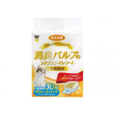 Super Cat Салфетка для кошачьего туалета UNICHARM еженедельная антибактериальная 30шт