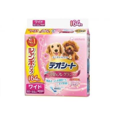 Пеленки для собак Unicharm дезодорирующие с ароматом цветочного мыла 60 X 44 см (64 шт)