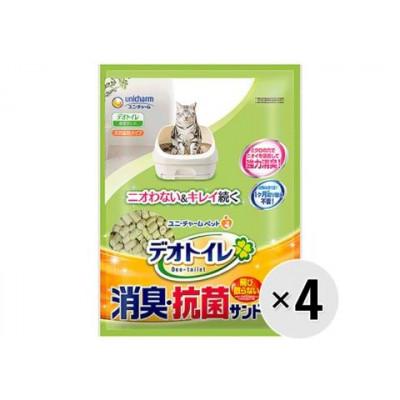 Unicharm Наполнитель для кошачьего туалета цеолитовый колбаски водоотталкивающий 4л х 4 упак