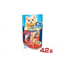 Nippon Хрустящее лакомство PRESENT для избалованных котов на основе японской говядины, 42г Япония