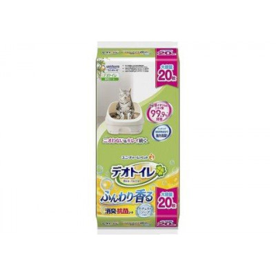 UNICHARM Салфетка для кошачьего туалета антибактериальная с ароматом душистого мыла 20шт