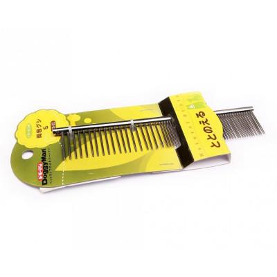 Купить в Красноярске Металлический гребень с частыми и редкими зубьями DoggyMan 899 руб