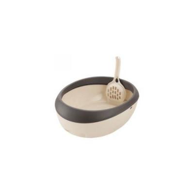 Richell Туалет для кошек Lapre Cat S полукруглый 30 × 39,1 × 12H (см) коричневый