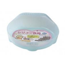 Миска для собак силиконовая Pefami 240мл 2S голубая