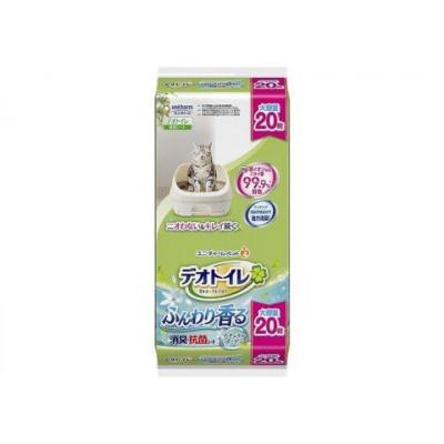 UNICHARM Салфетка для кошачьего туалета антибактериальная с ароматом цветов 20шт