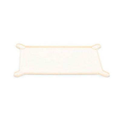 Коврик-лоток силиконовый для пелёнок с бортиком, бежевый. Широкий 577*437*15мм