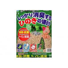 Happy Pet Наполнитель для кошачьего туалета древесный комкующийся с хиноки японская ель 7л
