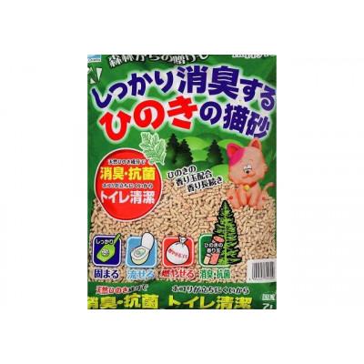 Купить в Красноярске Happy Pet Наполнитель для кошачьего туалета древесный комкующийся с хиноки японская ель 7л