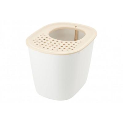 купить в Красноярске Richell Туалет для кошек с верхним входом 40×51×38H(cm) белый