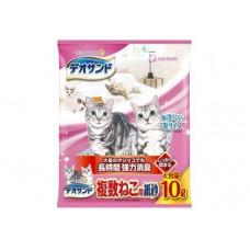 Unicharm Наполнитель для кошачьего туалета бумажный комкующийся для 2-ух и более кошек 10л