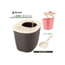 Richell Туалет для кошек с верхним входом 40×51×38H(cm) коричневый