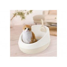 Richell Туалет для кошек полукруглый 36 × 47 × 24,5H (см) белый