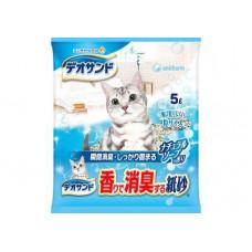 Unicharm Наполнитель для кошачьего туалета бумажный комкующийся с ароматом натурального мыла 5л