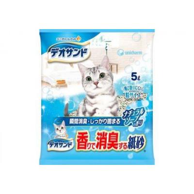 Купить в Красноярске Unicharm Наполнитель для кошачьего туалета бумажный комкующийся с ароматом натурального мыла 5л
