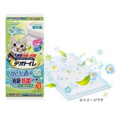 Unicharm антибактериальная салфетка для биотуалета с ароматом цветов, 10шт