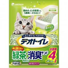 Unicharm Гранульный наполнитель для биотуалета, зеленый чай, 4л