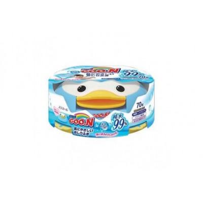 Goon Салфетки влажные для младенцев (пластик-бокс) 70шт купить в Красноярске по цене 453 руб.